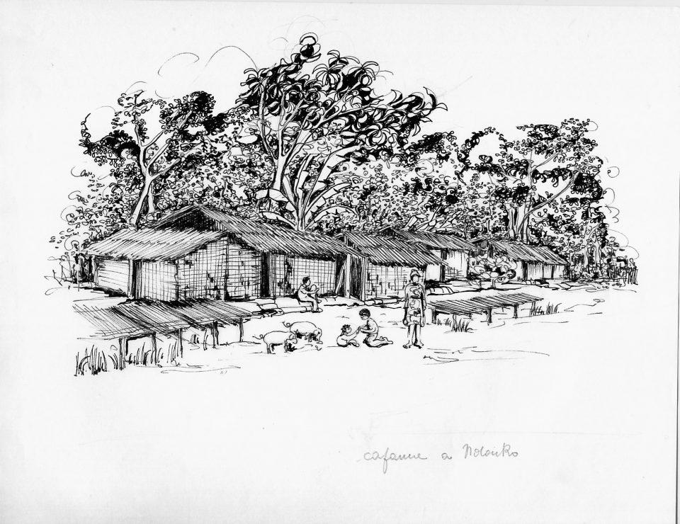Disegno a inchiostro di Maria Rosa Tagliabue