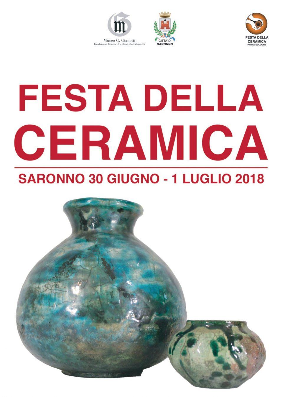 Festa della ceramica Saronno 2018 - programma