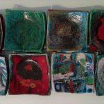 Raku al Museo Gianetti - Svuotatasche in Raku realizzate durante il laboratorio delle Festa della Ceramica in museo