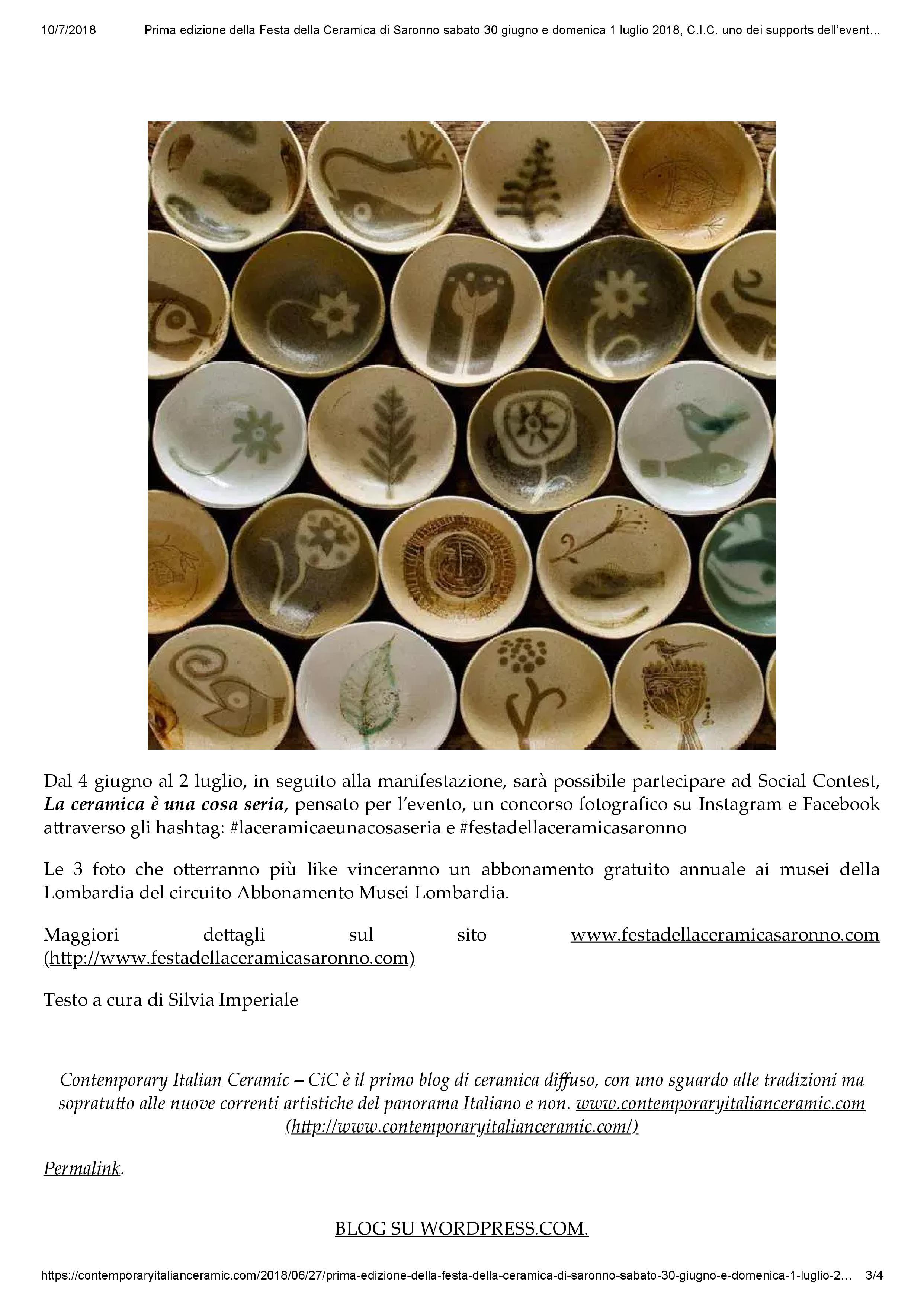 Contemporary italian ceramics