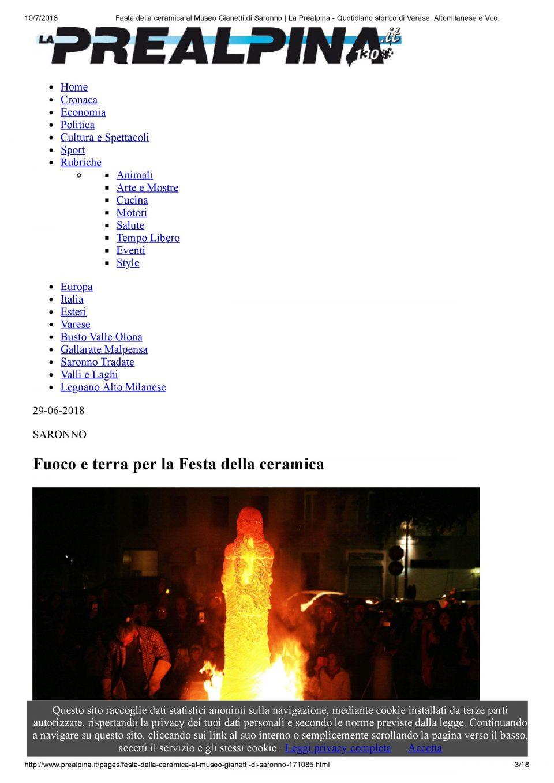 La Prealpina_online_Festa della ceramica al Museo Gianetti di Saronno