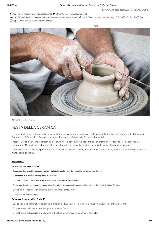 Varese turismo_Festa della ceramica _ Varese Convention & Visitors Bureau