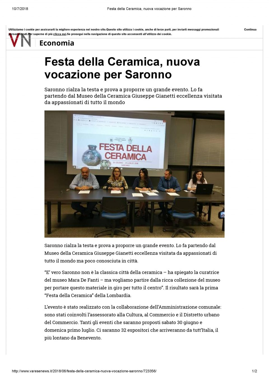 VareseNews_ Festa della Ceramica, nuova vocazione per Saronno