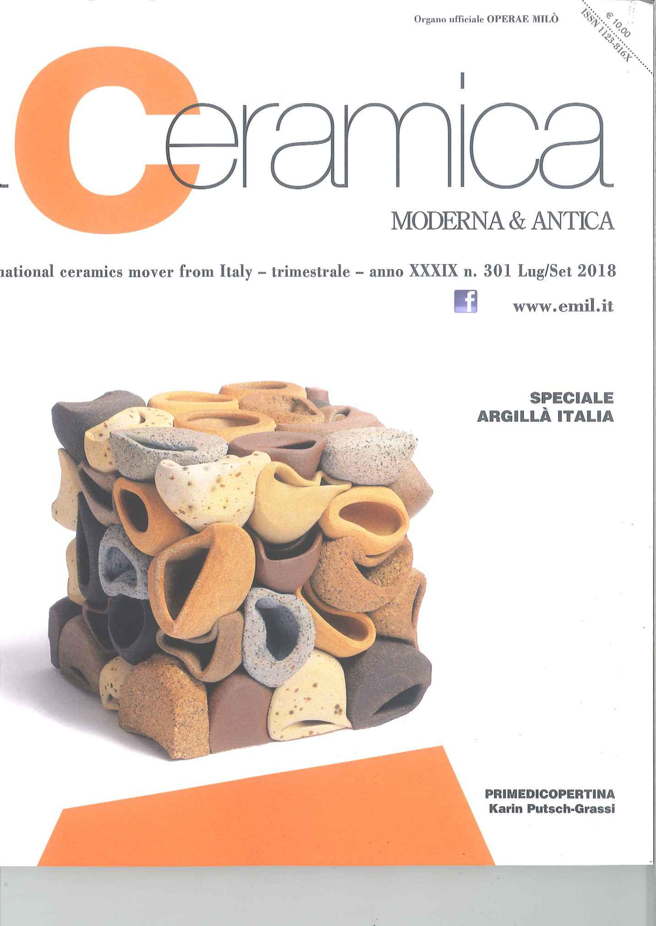 La Ceramica moderna & antica, The International ceramica mover from Italy - trimestrale - anno XXXIX n. 301 Lug/Set 2018